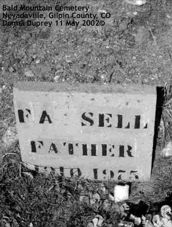 SELL, F. A. - Gilpin County, Colorado | F. A. SELL - Colorado Gravestone Photos