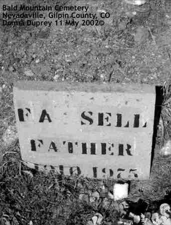SELL, F. A. - Gilpin County, Colorado | F. A. SELL - Colorado Gravestone Photos