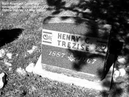 TREZISE, HENRY C. - Gilpin County, Colorado | HENRY C. TREZISE - Colorado Gravestone Photos