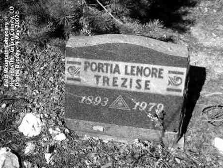 TREZISE, PORTIA LENORE - Gilpin County, Colorado   PORTIA LENORE TREZISE - Colorado Gravestone Photos