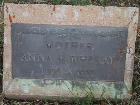 WHERRY, ANNA MARIE - Gilpin County, Colorado | ANNA MARIE WHERRY - Colorado Gravestone Photos