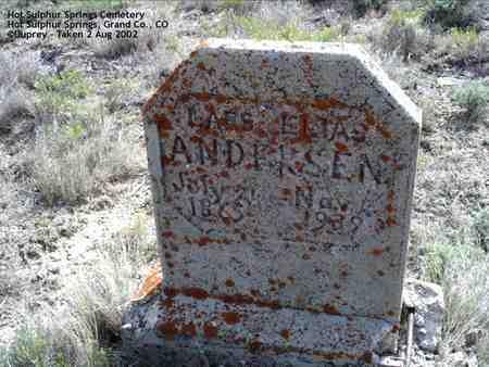 ANDERSON, LARS ELIAS - Grand County, Colorado   LARS ELIAS ANDERSON - Colorado Gravestone Photos