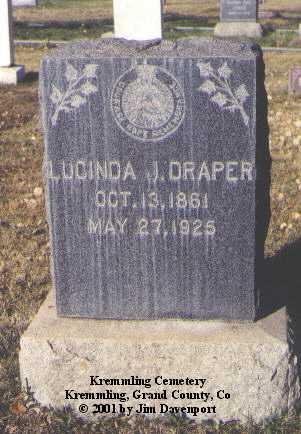 DRAPER, LUCINDA J. - Grand County, Colorado   LUCINDA J. DRAPER - Colorado Gravestone Photos