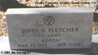 FLETCHER, JOHN D. - Grand County, Colorado   JOHN D. FLETCHER - Colorado Gravestone Photos