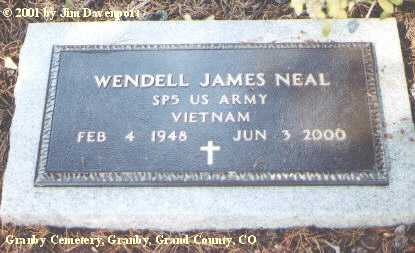 NEAL, WENDELL JAMES - Grand County, Colorado | WENDELL JAMES NEAL - Colorado Gravestone Photos