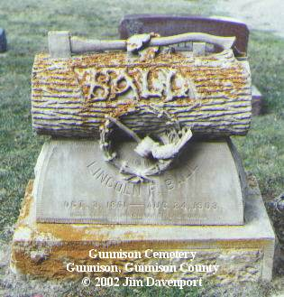 BALL, LINCOLN - Gunnison County, Colorado | LINCOLN BALL - Colorado Gravestone Photos