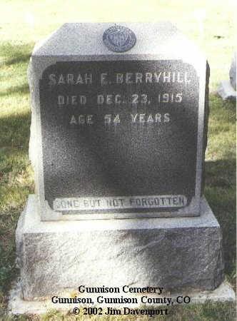 BERRYHILL, SARAH E. - Gunnison County, Colorado | SARAH E. BERRYHILL - Colorado Gravestone Photos