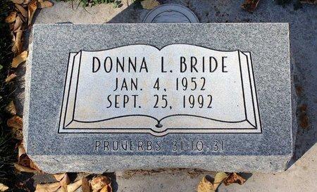BRIDE, DONNA L. - Gunnison County, Colorado | DONNA L. BRIDE - Colorado Gravestone Photos