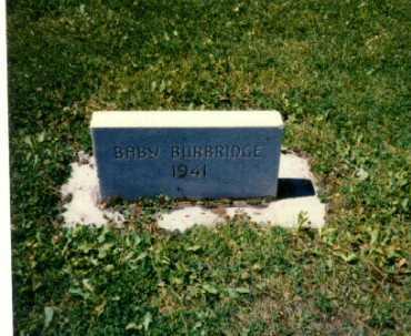 BURBRIDGE, BABY - Gunnison County, Colorado | BABY BURBRIDGE - Colorado Gravestone Photos