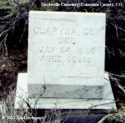 COX, CLARYSA - Gunnison County, Colorado | CLARYSA COX - Colorado Gravestone Photos