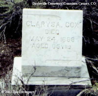 COX, CLARYSA - Gunnison County, Colorado   CLARYSA COX - Colorado Gravestone Photos