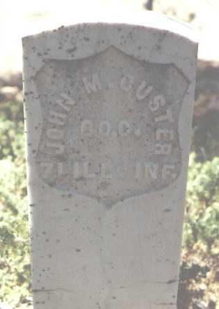 CUSTER, JOHN M. - Gunnison County, Colorado   JOHN M. CUSTER - Colorado Gravestone Photos