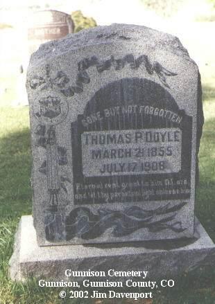 DOYLE, THOMAS P. - Gunnison County, Colorado   THOMAS P. DOYLE - Colorado Gravestone Photos