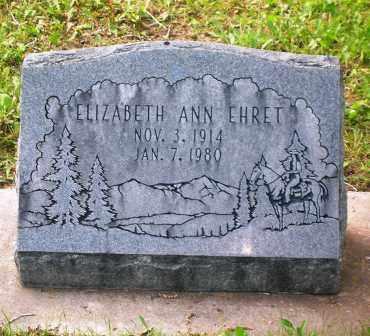 EHRET, ELIZABETH ANN - Gunnison County, Colorado   ELIZABETH ANN EHRET - Colorado Gravestone Photos