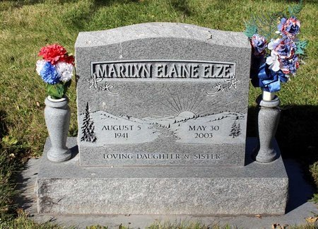 ELZE, MARILYN ELAINE - Gunnison County, Colorado | MARILYN ELAINE ELZE - Colorado Gravestone Photos