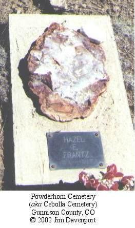 FRANTZ, HAZEL E. - Gunnison County, Colorado | HAZEL E. FRANTZ - Colorado Gravestone Photos