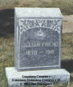 FRIEND, LILLIAN - Gunnison County, Colorado | LILLIAN FRIEND - Colorado Gravestone Photos