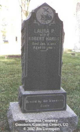 HARDS, LAURA P. - Gunnison County, Colorado | LAURA P. HARDS - Colorado Gravestone Photos
