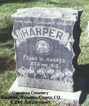 HARPER, FRANK W. - Gunnison County, Colorado | FRANK W. HARPER - Colorado Gravestone Photos