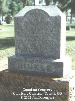 HINKLE, JACOB R. - Gunnison County, Colorado | JACOB R. HINKLE - Colorado Gravestone Photos