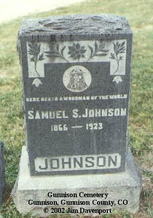 JOHNSON, SAMUEL S. - Gunnison County, Colorado | SAMUEL S. JOHNSON - Colorado Gravestone Photos