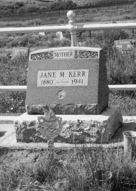 KERR, JANE MCARTHUR - Gunnison County, Colorado | JANE MCARTHUR KERR - Colorado Gravestone Photos