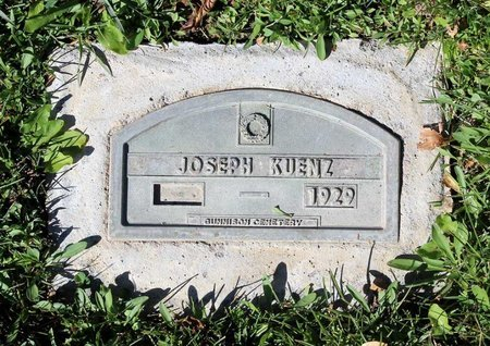 KUENZ, JOSEPH - Gunnison County, Colorado | JOSEPH KUENZ - Colorado Gravestone Photos