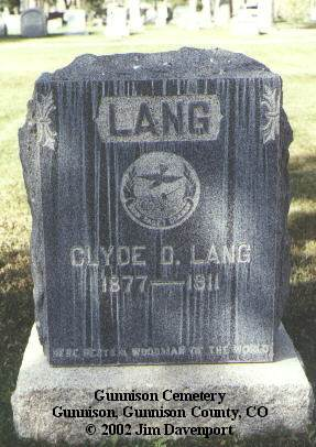 LANG, CLYDE D. - Gunnison County, Colorado | CLYDE D. LANG - Colorado Gravestone Photos