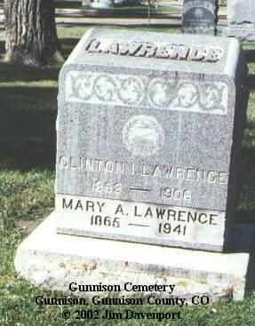 LAWRENCE, CLINTON I. - Gunnison County, Colorado   CLINTON I. LAWRENCE - Colorado Gravestone Photos