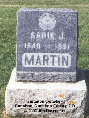 MARTIN, SADIE J. - Gunnison County, Colorado | SADIE J. MARTIN - Colorado Gravestone Photos