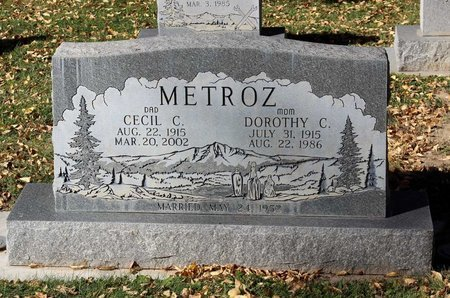 METROZ, CECIL C. - Gunnison County, Colorado | CECIL C. METROZ - Colorado Gravestone Photos