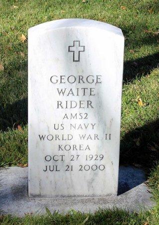 RIDER, GEORGE WAITE - Gunnison County, Colorado | GEORGE WAITE RIDER - Colorado Gravestone Photos