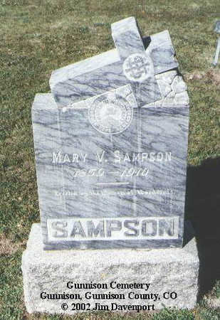 SAMPSON, MARY V. - Gunnison County, Colorado | MARY V. SAMPSON - Colorado Gravestone Photos