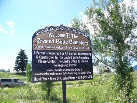 SIGN, *CEMETERY - Gunnison County, Colorado   *CEMETERY SIGN - Colorado Gravestone Photos