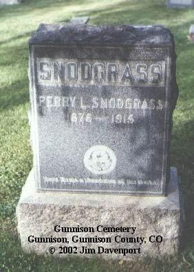 SNODGRASS, PERRY L. - Gunnison County, Colorado | PERRY L. SNODGRASS - Colorado Gravestone Photos