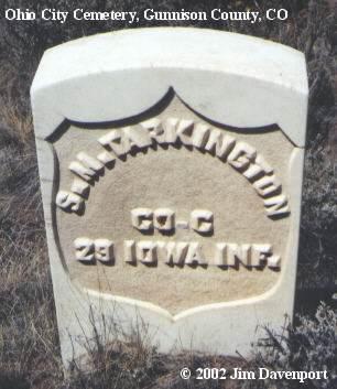 TARKINGTON, S. M. - Gunnison County, Colorado   S. M. TARKINGTON - Colorado Gravestone Photos