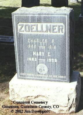 ZOELLNER, CHARLES P. - Gunnison County, Colorado   CHARLES P. ZOELLNER - Colorado Gravestone Photos