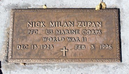 ZUPAN, NICK MILAN - Gunnison County, Colorado | NICK MILAN ZUPAN - Colorado Gravestone Photos