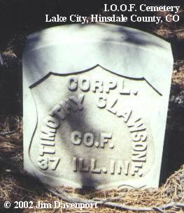 CLAWSON, TIMOTHY - Hinsdale County, Colorado | TIMOTHY CLAWSON - Colorado Gravestone Photos