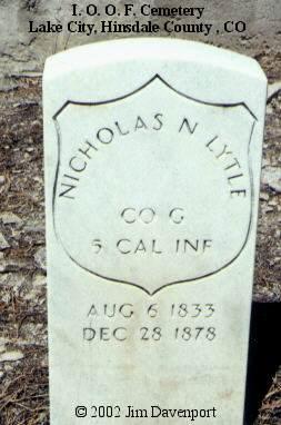 LYTLE, NICHOLAS N. - Hinsdale County, Colorado | NICHOLAS N. LYTLE - Colorado Gravestone Photos