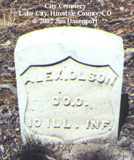 OLSON, ALEX - Hinsdale County, Colorado | ALEX OLSON - Colorado Gravestone Photos