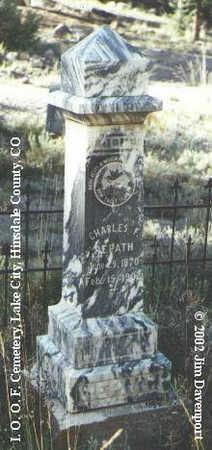 REPATH, CHARLES F. - Hinsdale County, Colorado | CHARLES F. REPATH - Colorado Gravestone Photos