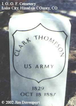THOMPSON, CLARK - Hinsdale County, Colorado   CLARK THOMPSON - Colorado Gravestone Photos