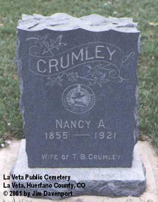CRUMLEY, NANCY A. - Huerfano County, Colorado | NANCY A. CRUMLEY - Colorado Gravestone Photos