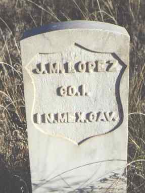 LOPEZ, J. M. - Huerfano County, Colorado | J. M. LOPEZ - Colorado Gravestone Photos