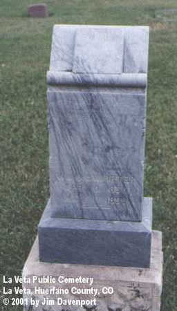 MCWHIRTER, WM. - Huerfano County, Colorado | WM. MCWHIRTER - Colorado Gravestone Photos