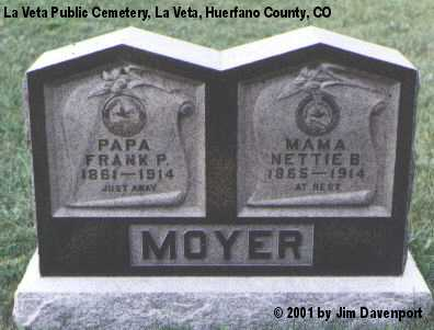 MOYER, NETTIE B. - Huerfano County, Colorado | NETTIE B. MOYER - Colorado Gravestone Photos