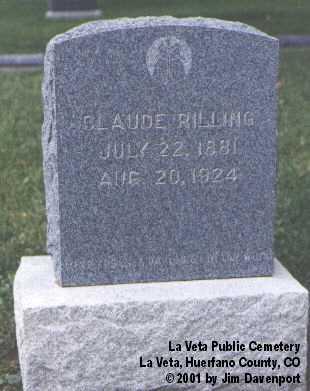 RILLING, CLAUDE - Huerfano County, Colorado | CLAUDE RILLING - Colorado Gravestone Photos