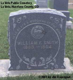 SMITH, WILLIAM F. - Huerfano County, Colorado | WILLIAM F. SMITH - Colorado Gravestone Photos