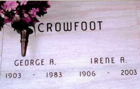 GEORGE A, CROWFOOT - Jefferson County, Colorado | CROWFOOT GEORGE A - Colorado Gravestone Photos